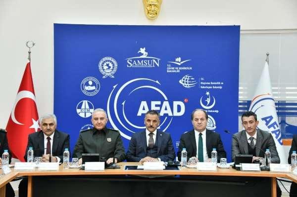Samsun'da afet ve acil durum tedbirleri belirlendi