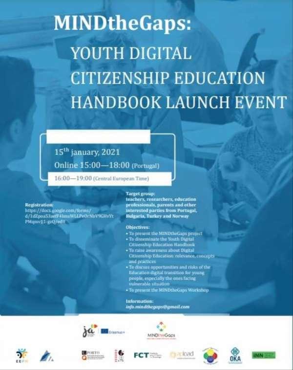 'Gençlik Dijital Vatandaşlık Eğitimi El Kitabı'nın tanıtımı yapılacak