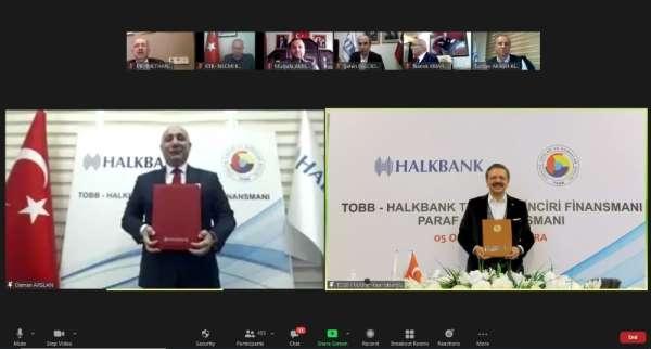 TOBB ve Halkbanktan Paraf Ticari Kredi Kartı ile Güvenceli Tedarik Zinciri Fin