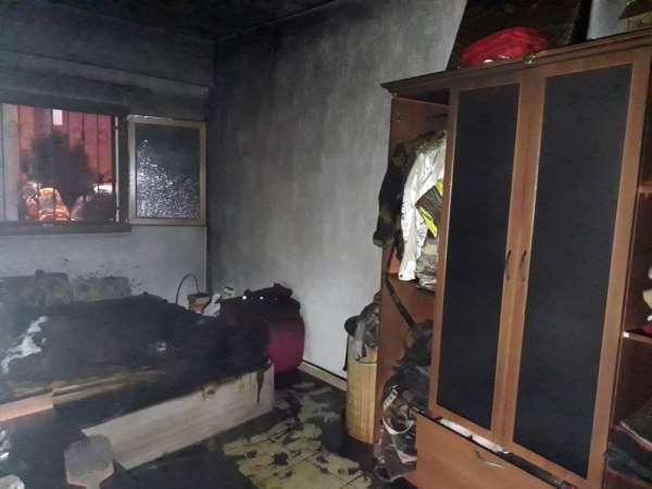 Elektrikli battaniye evi yakıyordu