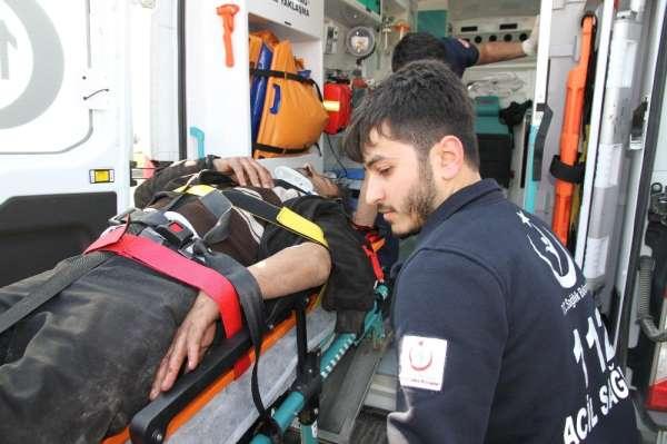 Mardin'de zincirleme kaza: 2 tır ve 1 tanker yandı, 3 kişi yaralandı