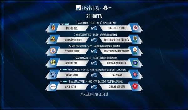 Efeler Ligi'nde 21. hafta heyecanı