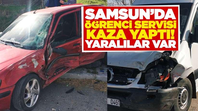 Samsun'da öğrenci servisi kaza yaptı! Yaralılar var