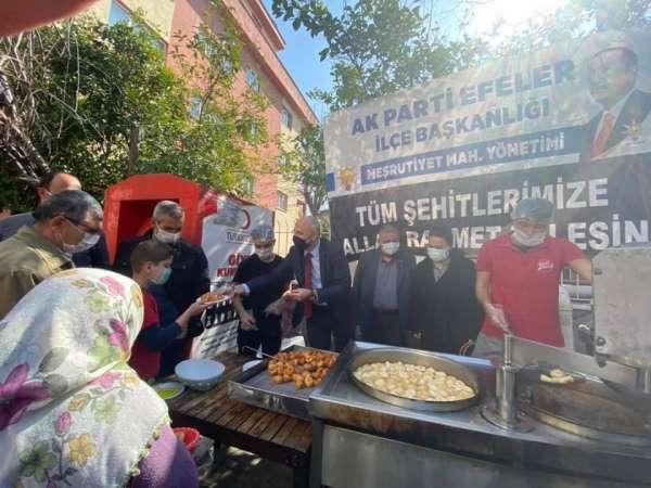 AK Parti Efelerden şehitler için lokma ve aşure hayrı