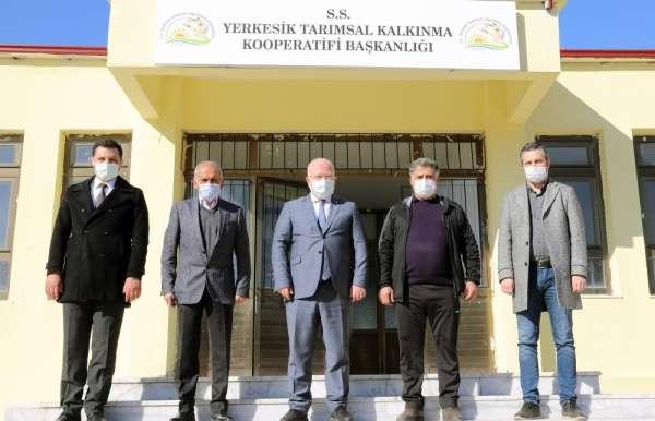 Başkan Gümüş, Yerkesik Kırsal Kalkınma Kooperatifinde incelemelerde bulundu