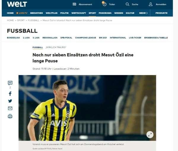 Mesut Özilin sakatlığı dünya basınında