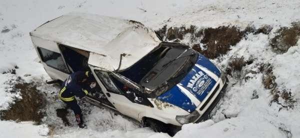 Van'da trafik kazası 2 yaralı