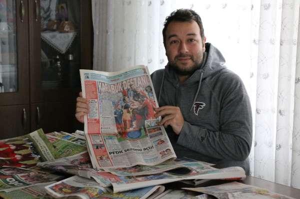 Biriktirdiği gazete küpürlerinden 'Karabükspor' belgeseli duygulandırdı