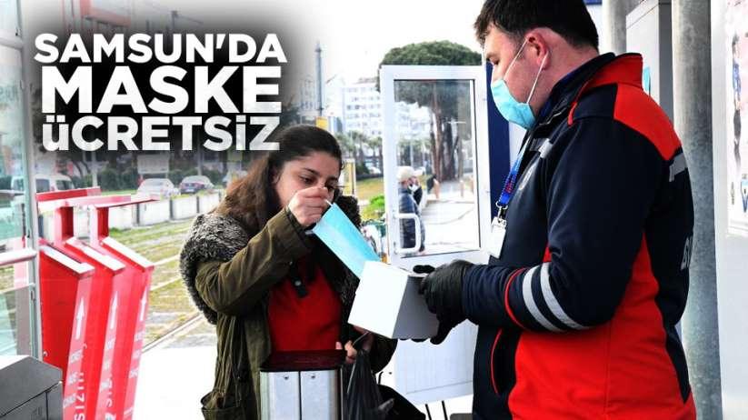 Samsun'da maske ücretsiz