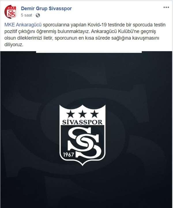 Sivasspor'dan Ankaragücü'ne geçmiş olsun mesajı