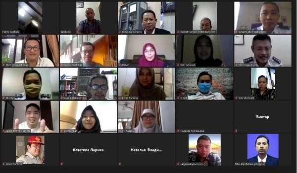 DÜ Dış İlişkiler Ofisi, Rusya ve Endonezya üniversiteleri ile online toplantıda