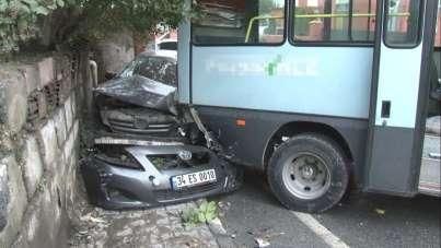 Gaziosmanpaşa'da feci kaza: 1'i ağır 3 yaralı