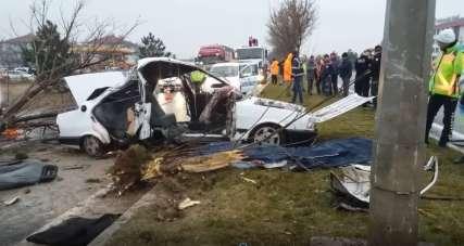 Kütahya'daki trafik kazasında acı tesadüf