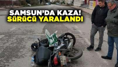 Samsun'da kaza! Sürücü yaralandı