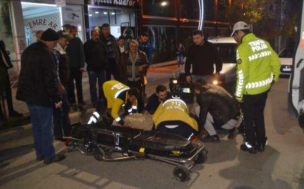 Otomobil ile bisiklet çarpıştı: 1 yaralı