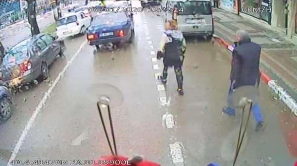 Dikkatsiz sürücü kazaya yol açtı