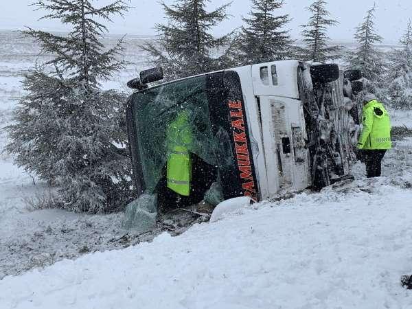 Eskişehir'de otobüs kazası: 5 yaralı