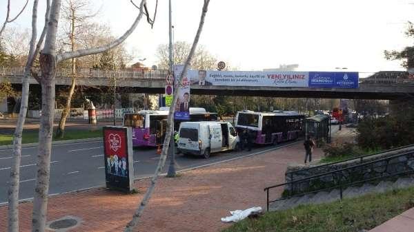 (Özel) İstanbul'un göbeğinde akıl almaz kaza