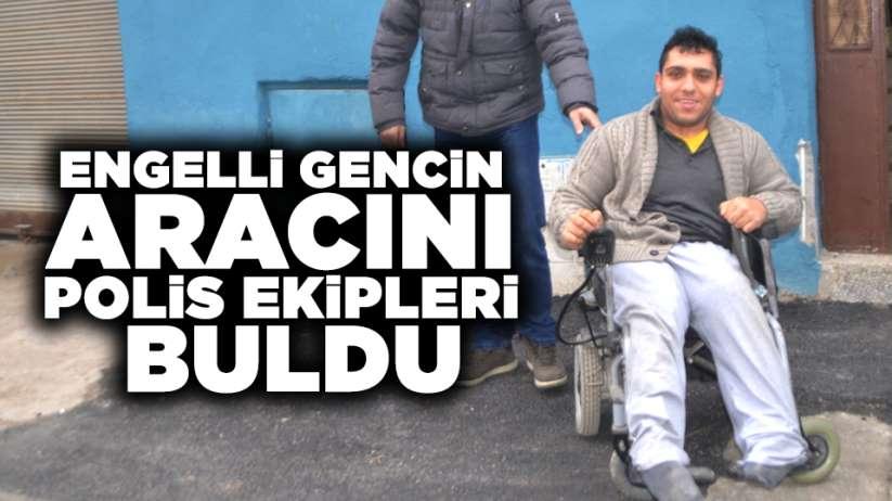 Samsunda engelli gencin aracını polis ekipleri buldu