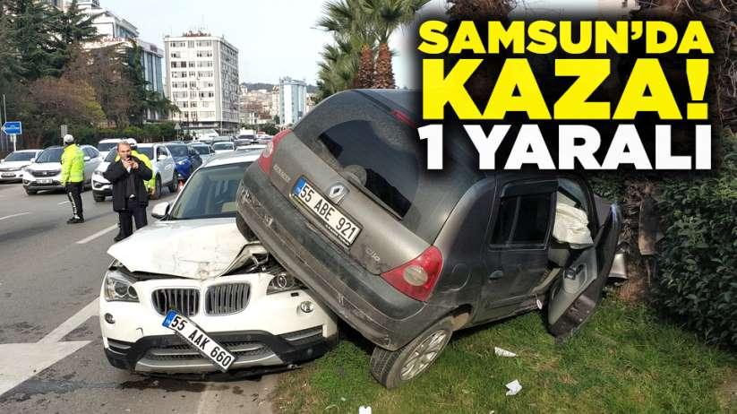 Samsunda kaza! 1 yaralı