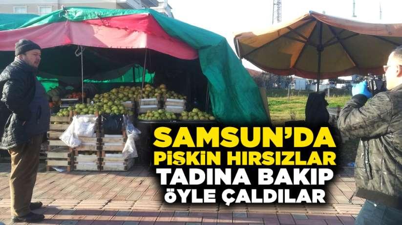 Samsun'da pişkin hırsızlar! Tadına bakıp öyle çaldılar
