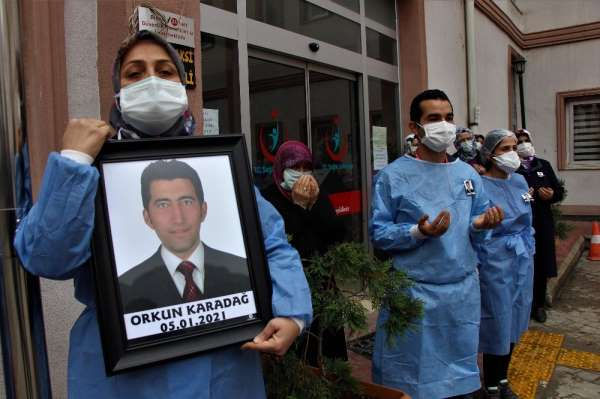 Amasyada koronadan hayatını kaybeden sağlık çalışanı için tören