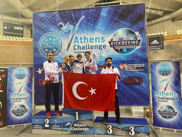Diyarbakırlı sporcudan Türk bayrağını yırtan Yunan vekile tokat gibi cevap'