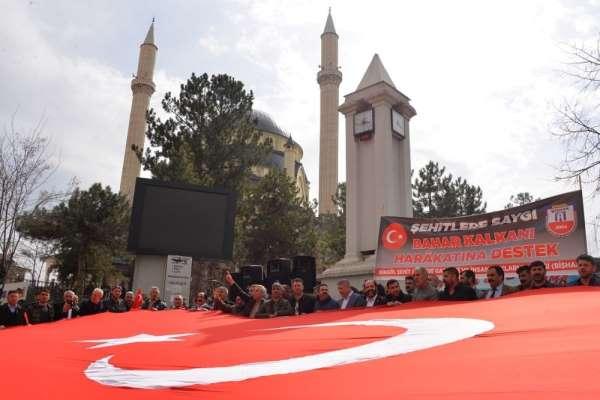 Bingöl'de şehit ve gazi ailelerinden, Mehmetçiğe destek