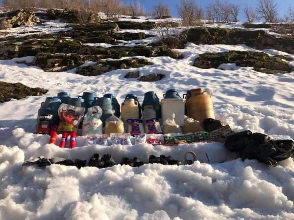 Bitlis'te terör örgütüne ait malzemeler ele geçirildi