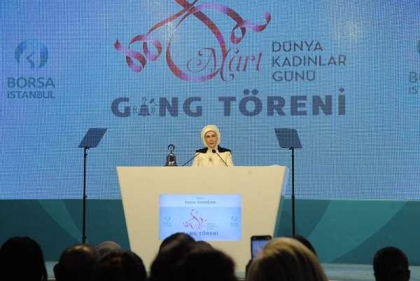 Emine Erdoğan: 'Kadınların iş gücüne katılımı son 10 yılda erkeklere göre 4 kat