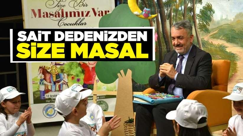 Rektör Sait Bilgiç çocuklara masal anlattı