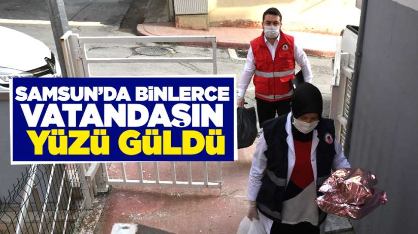 Samsun'da binlerce vatandaşın yüzü güldü