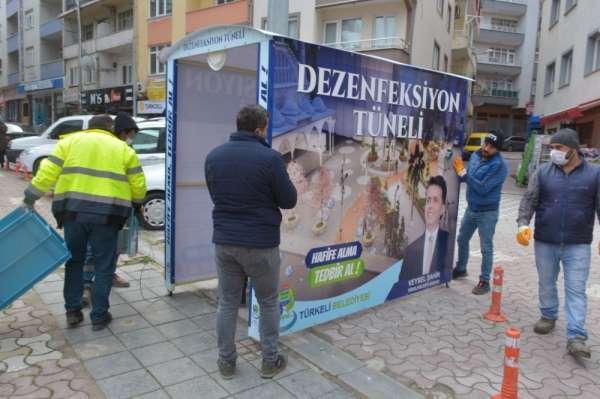 Türkeli'ye 'Dezenfeksiyon Tüneli' kuruldu