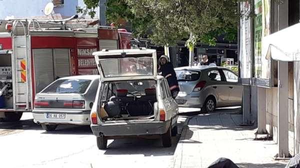 Tokat'ta gaz kaçıran otomobil korku dolu anlar yaşattı
