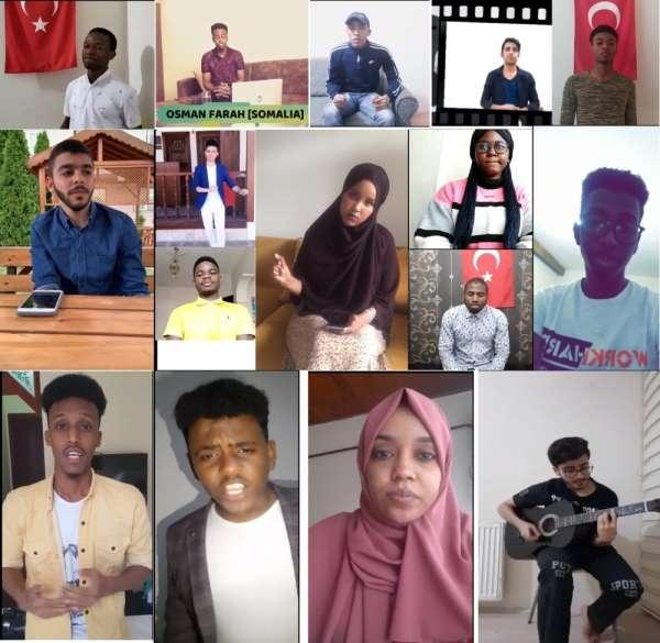 Yabancı öğrenciler sosyal medyada Türkçe şarkılarla yarışıyor