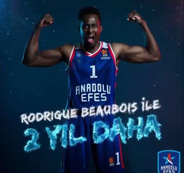 Anadolu Efes, Rodrigue Beaubois ile sözleşme yeniledi