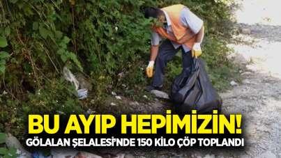 Samsun'da doğa harikasında çöp rezaleti