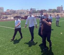 Alpay Özalan: 'Menemen'de yapımı devam eden spor tesisini inceledi