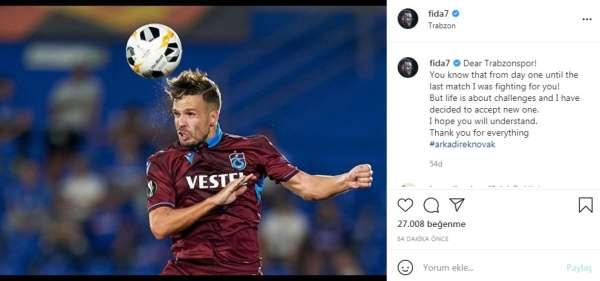 Filip Novak, Trabzonspor'dan ayrıldı