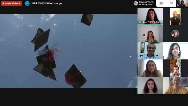 OMÜ psikoloji mezunları onlineda kep fırlattı