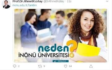 Rektör Kızılay'dan İnönü Üniversitesi'ni tercih önerisi