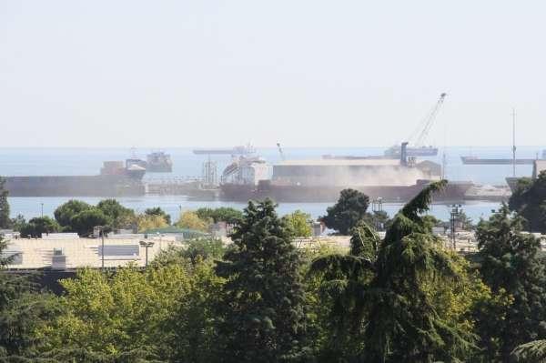 Samsun Limanı toz duman
