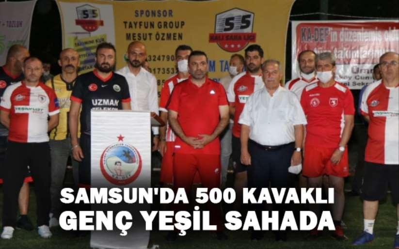 Samsun'da 500 Kavaklı genç yeşil sahada