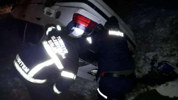Buzlanma kazaya neden oldu: 1 yaralı