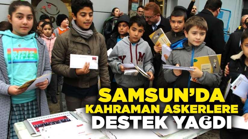 Samsun'dan kahraman askerlere destek yağdı