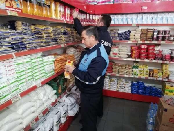 Suluova'da zabıta ekipleri market ve bakkalları denetledi