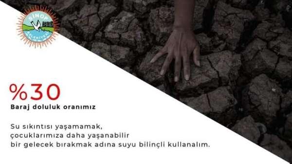 Sinop Belediyesinden Suyu bilinçli kullanalım çağrısı
