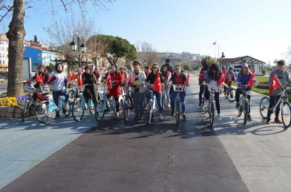İdlib şehitleri için bisiklet turu