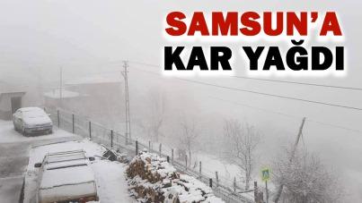 Samsun'a kar yağdı!