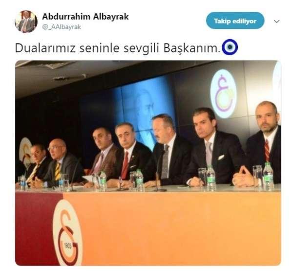 Abdurrahim Albrayktan Mustafa Cengiz paylaşımı
